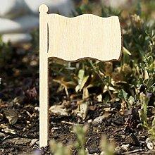 Bütic Sperrholz Pflanzschilder Gartenstecker -