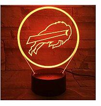 Buffalo Bills Nachtlampe Schlafzimmer Usb Rgb