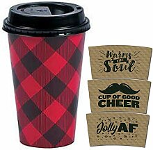 Buffalo Plaid Einwegbecher für Kaffee oder heiße