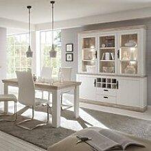Buffetschrank und Esstisch Set im Landhaus-Stil