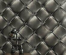 Buggy TV Hintergrund Wand moderner Minimalismus mottenfest antibakterielle nahtlose Schallabsorption Vlies Tuch antistatische Antifouling feuchtigkeitsbeständig Tapete 10 M * 0.53 m Wallpaper,Black
