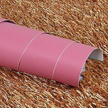 Buggy TV Hintergrund Wand moderner Minimalismus mottenfest antibakterielle nahtlose Schallabsorption Vlies Tuch antistatische Antifouling feuchtigkeitsbeständig Tapete Selbstklebende Tapete,Pink 61CM WIDTH * 10 meter