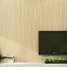 Buggy TV Hintergrund Wand moderner Minimalismus mottenfest antibakterielle nahtlose Schallabsorption Vlies Tuch antistatische Antifouling feuchtigkeitsbeständig Tapete Vlies Tapete 10 m * 0.53 m,M yellow