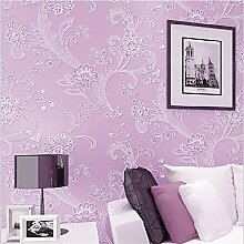 Buggy TV Hintergrund Wand moderner Minimalismus mottenfest antibakterielle nahtlose Schallabsorption Vlies Tuch antistatische Antifouling feuchtigkeitsbeständig Tapete Vlies Tapete 10 m * 0.53 m,Purple