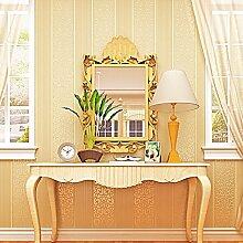 Buggy TV Hintergrund Wand moderner Minimalismus mottenfest antibakterielle nahtlose Schallabsorption Vlies Tuch antistatische Antifouling feuchtigkeitsbeständig Tapete Vlies Tapete 10 m * 0.53 m3D,0.53 m*10 m,Yellow