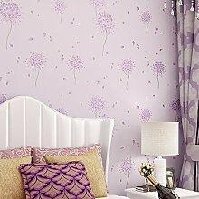 Buggy TV Hintergrund Wand moderner Minimalismus mottenfest antibakterielle nahtlose Schallabsorption Vlies Tuch antistatische Antifouling feuchtigkeitsbeständig Tapete Vlies Tapete 10 m * 0.53 m,Romantic Purple