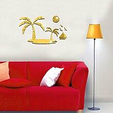 Buggy Wandspiegel Acryl wand Aufkleber Home Decor,2