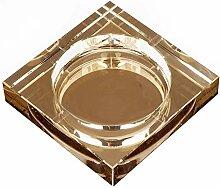 BUICCE Aschenbecher Glas Kristall Gold