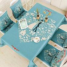 BUKUANG Wohnzimmer Mit Tischdecken,I-110*110cm