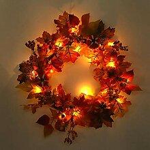 Bulary Herbst Weihnachten Kranz Dekoration Hotel