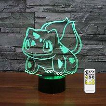 Bulbasaur 3D Optische Täuschung Nachtlicht