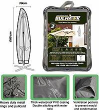 Bulhawk® Sonnenschirm Garten-Schirm Sonnenschirm mit Cantilever Sonnenschirm, hochwertig, robuste Qualität, 100% wasserdicht, Braun oder Grau