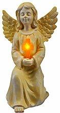 Bulk Buys hx431Solar Statue Engel mit Kreuz