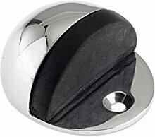 Bulk Hardware BH01656 50 mm Ovaler Türstopper, Chrom / Weiß