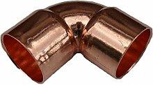 Bulk Hardware BH03073 Endstück 90-Grad-Krümmer 15 mm, Weiß, 2 Stück