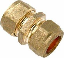 Bulk Hardware bh05138Klemmverschraubung Messing Gerader Verbinder 22mm, Set 5Stück