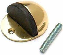 Bulk Hardware bh0570150mm (5,1cm) Bodenmontage Türstopper Stopper–oval Messing polier