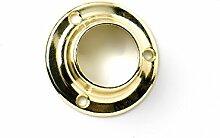 Bulk Hardware bh5039625mm Stange/U Ende Support Sockel Slim style-brass Kleiderschrank Schrank Stange gold tone-pack, 4Stück 4Stück