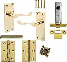Bulk Hardware bh51260Viktorianischer Tür Scroll Verriegelung Messing Gold tone-pack von 1