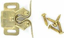 Bulk Hardware bh52927EB Messing vergoldet Doppelrollo Rollo Schränke Tür catch-gold tone-pack, 4Stück 4Stück