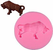 Bull Ochse Seife Form Tier Silikon Kuchen Formen Fondant Schokolade Mould Küche backen Kuchen Werkzeuge Bulle