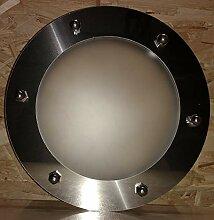 Bullauge flach 230 mm Edelstahl INOX Glas matt