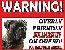 Bullmastiff (Tan) Guard Dog Metall Schild 53