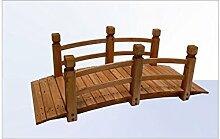 BULTO Holz - Gartenbrücke 148 cm Rot-Braun