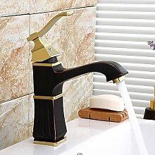 Buluke Badezimmer Waschbecken Wasserhahn Messing antik einzigen Griff Centerse