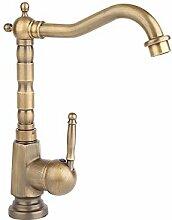 Buluke Europäischen Antike Kupfer Badezimmer Waschbecken Wasserhahn
