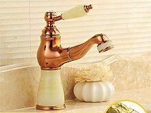 Buluke Europäischen Stil Kupfer Badezimmer Waschbecken Wasserhahn, B