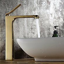 Buluke Europäischen Stil Kupfer Luxus vergoldet Badezimmer Waschbecken Wasserhahn