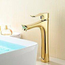 Buluke Luxus-vergoldete Kupfer Single zu behandeln, heißem und Kaltwasser Wasserhahn