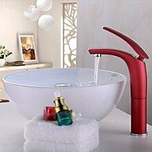 Buluke Stilvolle Messing Einlochmontage heißen und kalten Wasser Badezimmer Waschbecken Wasserhahn,ro
