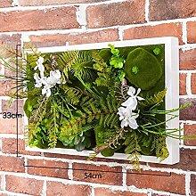 Buluke Tolle Muttertagsgeschenk 3D-Simulation Pflanze Blume Wohnzimmer Sofa Hintergrund Wandschmuck, J