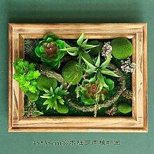 Buluke Tolle Muttertagsgeschenk Garten Home Dekoration Holzrahmen simulation Pflanze Blume, 45 * 35