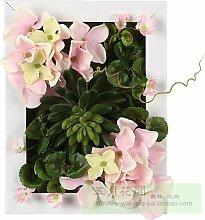 Buluke Tolle Muttertagsgeschenk Home wand Ornamente kreativ Simulation pflanze Blume wand Dekoration, F