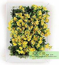 Buluke Tolle Muttertagsgeschenk Kreative Home Wohnzimmer TV Hintergrund Wanddekoration 3-D-Simulation Pflanze Blume, E