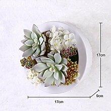 Buluke Tolle Muttertagsgeschenk Kreative Home Wohnzimmer TV Hintergrund Wanddekoration 3-D-Simulation Pflanze Blume, F