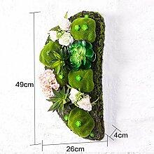 Buluke Tolle Muttertagsgeschenk Kreative Home Wohnzimmer TV Hintergrund Wanddekoration stereoskopische Simulation Pflanze Blume, G