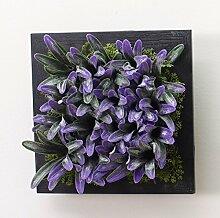 Buluke Tolle Muttertagsgeschenk Kreative Home Wohnzimmer TV Hintergrund Wanddekoration stereoskopischen 3D-Simulation Pflanze Blume, G