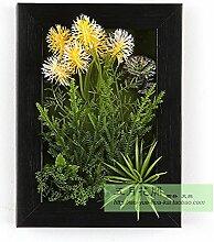 Buluke Tolle Muttertagsgeschenk Kreative Home Wohnzimmer TV Hintergrund Wanddekoration 3-D-Simulation Pflanze Blume, D