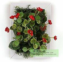 Buluke Tolle Muttertagsgeschenk Kreative Home Wohnzimmer TV Hintergrund Wanddekoration 3-D-Simulation Pflanze Blume, G