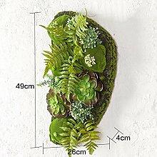 Buluke Tolle Muttertagsgeschenk Kreative Home Wohnzimmer TV Hintergrund Wanddekoration stereoskopische Simulation Pflanze Blume, E