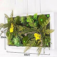 Buluke Tolle Muttertagsgeschenk Kreative stereoskopische Simulation Pflanze Blume Wohnzimmer TV Hintergrund Wandschmuck, B