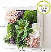 Buluke Tolle Muttertagsgeschenk Kreative Wand Dekorationen Wohnzimmer Wand stereo Simulation Pflanze/blume Dekoration, ICH