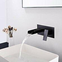 BULUXE Badezimmer-Wasserhahn, Wandmontage,