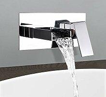 BULUXE Wasserfall-Waschbecken-Wasserhahn,