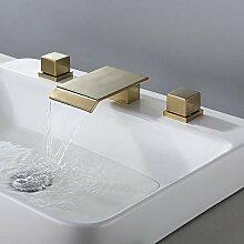 BULUXE Wasserfall-Wasserhahn für Badezimmer,