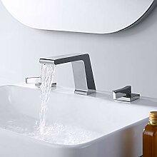 BULUXE Wasserfall-Wasserhahn für Waschbecken,